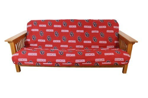 College Covers Oklahoma Sooners Futon Cover - Full size fits 6 and 8 inch mats by College Covers