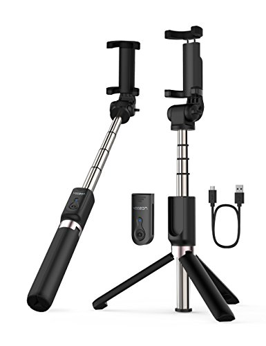 Yoozon Selfie Stick Bluetooth, Extendable Selfie Stick with Wireless Remote and Tripod Stand Selfie Stick for iPhone X/iPhone 8/8 Plus/iPhone 7/iPhone 7 Plus/Galaxy S9/S9 Plus/Note 8/S8/S8 Plus/More by yoozon