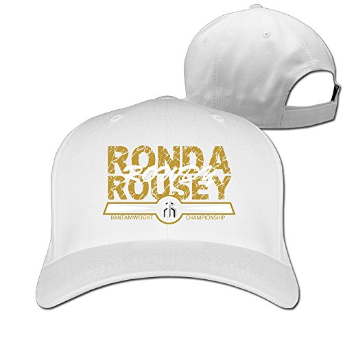 XJBD Adult Ronda Rousey Fishing Hats Caps White