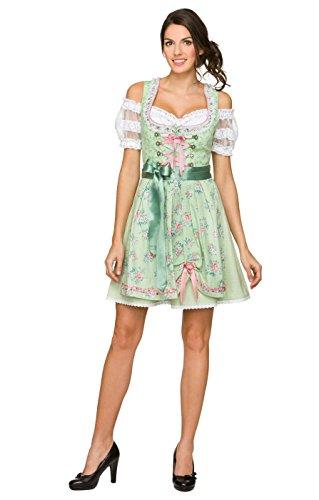 Dirndl 50 cm Länge Cherie - exklusives Trachtenkleid im klassischen Stil der Trachtenmode, ein festliches Kleid für besondere Anlässe, denn moderne Trachten gelten als Fashiontrend Linde, 38
