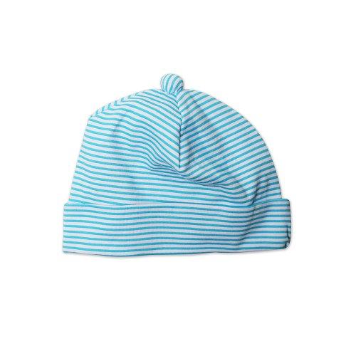 Zutano Unisex-baby Newborn Hat Candy Stripe, Pool, 12 Months (Cotton Zutano Hat)