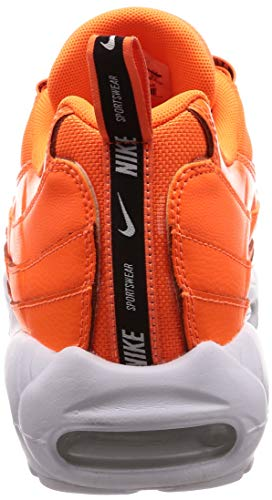 Max Scarpe Nike black Da Total white Uomo Air Ginnastica Orange Plus ZZrxF4Wgn