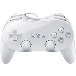 Wired Game Controller Remote White Color Classic With Grip For Nintendo Wii