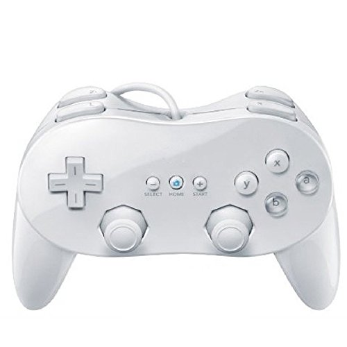 Wired Game Controller Remote White Color Classic With Grip For Nintendo
