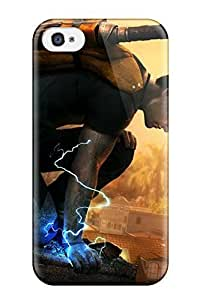 Iphone 4/4s Case Cover - Slim Fit Tpu Protector Shock Absorbent Case (infamous For Ps3)