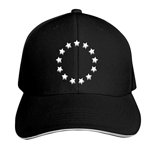 Betsy Ross Shirt 4th of July American Flag 1776 Retro Adjustable Baseball Cap, Old Sandwich Cap, Pointed Dad Cap Black