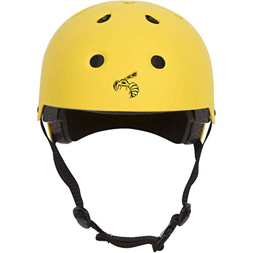 Yellow Jacket Certified Skateboard Helmet - CPSC ASTM Certified Impact Resistance Ventilation Multi-Sport, Yellow Jacket - Large