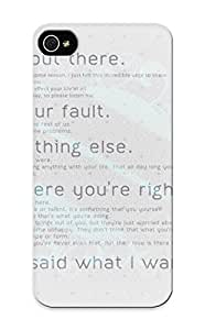 Case Provided For Iphone 5/5s Protector Case Blue Black Minimalistic Red White Text Typography Motivation Phone Cover With Appearance