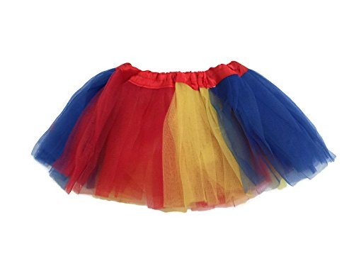Rush Dance Colorful Ballerina Girls Dress-Up Princess Costume Recital Tutu (Infant, Yellow & Royal Blue & Red (Snow (Snow White Ballerina Costume)