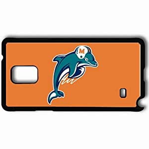 Personalized Samsung Note 4 Cell phone Case/Cover Skin 1348 miami dolphins Black hjbrhga1544