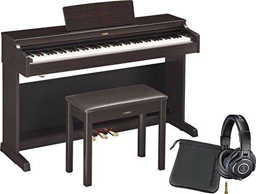 Yamaha YDP163R Dark Rosewood Arius Traditional Console Digital Piano w/ Bench and Professional Headphones