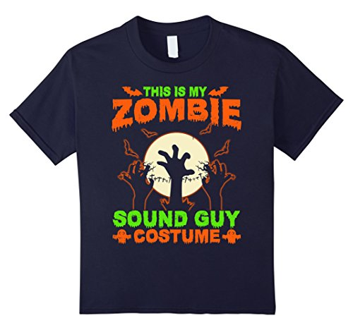 Zombie Halloween Costumes For Guys (Kids This Is My Zombie Sound Guy Costume T-Shirt 12 Navy)