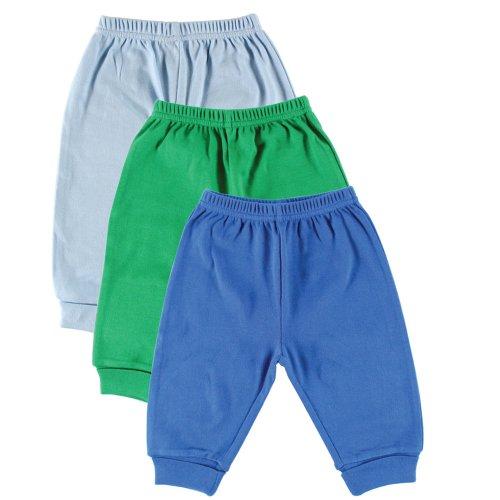 Luvable Friends 3-Pack Pants, Light Blue/Blue/Green 3-6 Months