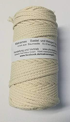 Hilo de algodón hilo macramé washati hilo color 200 Meter: Amazon ...