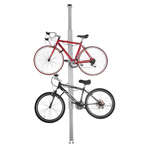 2 Bike Floor Stand - 2024 RAD Cycle Aluminum Bike Stand Bicycle Rack Storage or Display Holds Two Bicycles