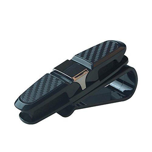 Daphot Store Car Auto Sun Visor Clip Holder Carbon Fiber Sunglasses Holder Clip Glasses Cage Storage Universal Car Auto Accessory (Gray) by Daphot Store (Image #4)