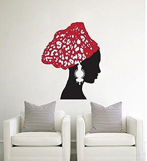 Africa African Girl Wall Stickers Vinyl Decals Home Decor Sticker