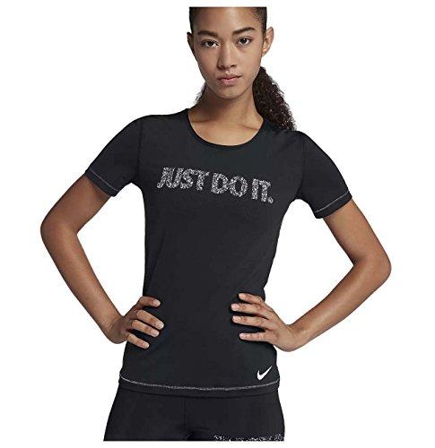 Nike Women's Dri-Fit Pro Just Do It Training Top-Black-Medium