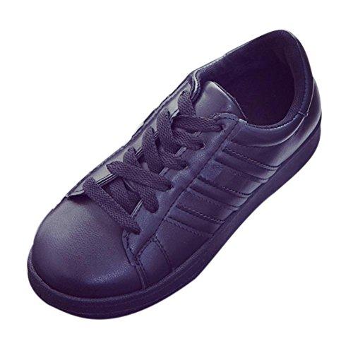 QinMM Noir Plate Forme Confortable Mode Semelles Baskets Sneakers Basses Femme Saison Chaussures zrzqw