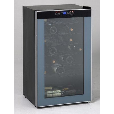 Avanti WC3406 34 Bottle Wine Chiller - with Stainless Trim Glass Door (34 Bottle Wine Cellar)