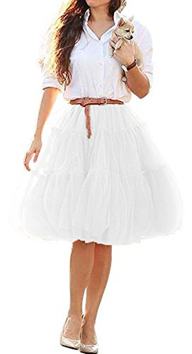 CoutureBridal - Falda - trapecio - para mujer Weiß