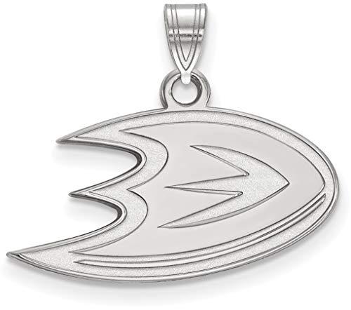10K White Gold NHL Anaheim Ducks Small Pendant by LogoArt