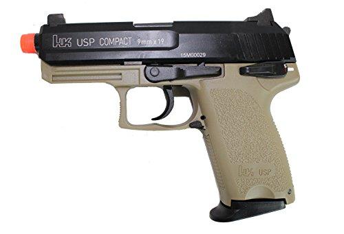 H&K KWA USP Compact Tactical GBB (Gen2) - Black / Tan