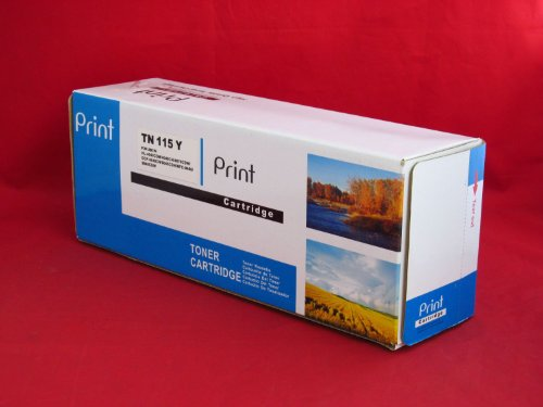 TN-110Y, TN-115Y Compatible Remanufactured High Yield Yellow Toner Cartridge