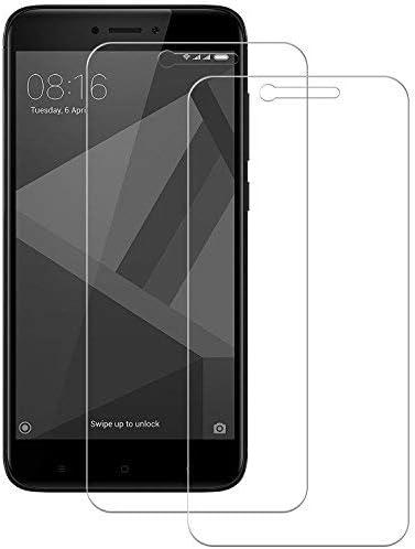 POOPHUNS Cristal Templado Xiaomi Redmi 4X / Redmi 4X Pro, 2-Unidades Protector de Pantalla Cristal Vidrio Templado Premium para Xiaomi Redmi 4X / Redmi 4X Pro No se despega uellas Dactilares Libre