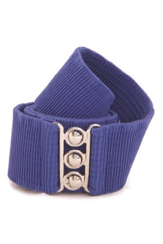 Malco Modes Wide Elastic Cinch Waist Belt Stretch Belt for Women, Plus Sizes Medium Royal Blue (Ring Cinch Belt)