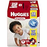 Huggies Snug and Dry Diapers, Size 5, 136 Count
