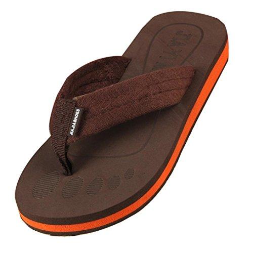 Sommer Schuhe Erwachsene Braun Flip Ouneed® Flops Hausschuhe Sandalen Hausschuhe Zehentrenner Flip Herren amp; Indoor Strand Outdoor Flops RZHHAxqv