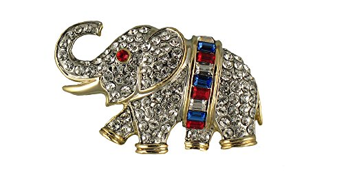 Patriotic Baguette Elephant Pin/Brooch