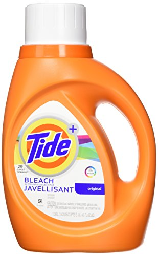 Tide Plus Bleach Alternative Safe on Colors Liquid Laundry Detergent, Original Scent, 1.36 L (24 Loads) - Bleach Liquid Laundry Detergent