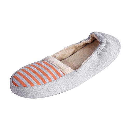 Washable Leather Pouch Women's Sole Fluffy Ballerina House Orange Travel Comfy Slippers Slipper with 0PPtrq