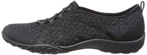 Skechers Sport Women's Breathe Easy Fortune Fashion Sneaker,Black Knit,5 M US