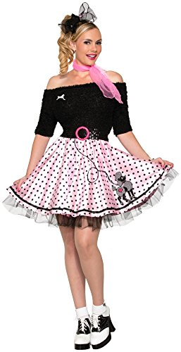 Forum Novelties Women's 50's Mid-Length Poodle Skirt, Pink, Standard -