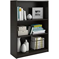 3-Shelf Bookcase in Black Forest Finish
