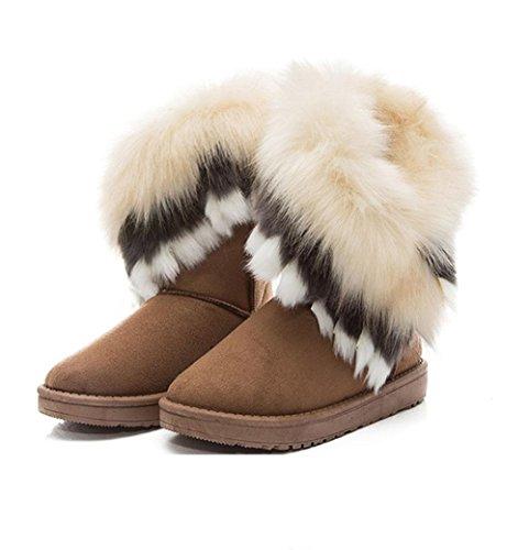 Mujer Salvaje Algodón Moda Nieve Zapatos 003 Botas De Casual Cálido Tubo Meili EW8qFznAw