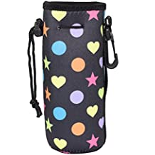 Water Bottle Sleeve, Protable Neoprene Insulated Water Bottle Cooler Cooler Carrier Cover Sleeve Tote Bag Pouch Holder Strap for Kid Children Women MEN Biker