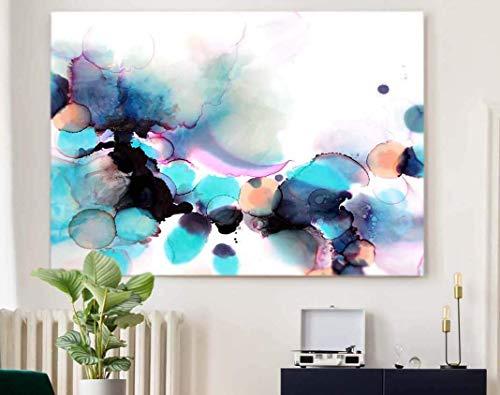Abstract Blue Orchid Fine Art Print Unique Beautiful Floral Interior Design Living Room Bedroom ideas