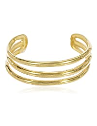 10k Yellow Gold Three Wire Toe Ring