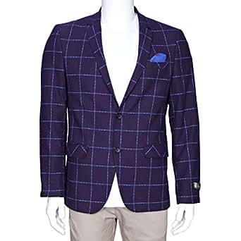 Gelliso Purple Mixed Blazer For Men