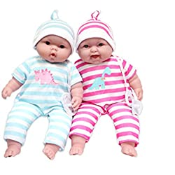 Cuddle Babies, 13-Inch Baby Soft Doll Soft Body Twins