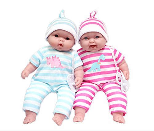 "JC Toys Lots to Cuddle Babies, 13"" Baby Soft Doll Soft Body Twins, Designed by Berenguer"
