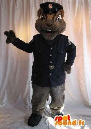 Mascota SpotSound Amazon ardilla personalizable disfraz uniforme ...