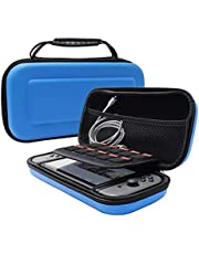 Keyye Carrying Case for Nintendo Switch, Travel Carrying Pouch with Hard Protective Shell and Larger Storage Space for Nintendo Switch Accessories,Blue