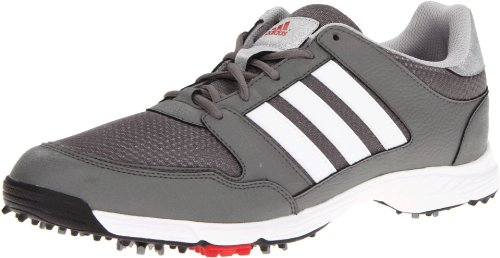 adidas Men's Tech Resonse 4.0 Golf Shoe,Iron/White/Black,10 M US