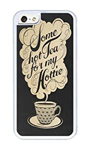 Apple Iphone 5C Case,WENJORS Cute Some Hot Tea For My Hottie Soft Case Protective Shell Cell Phone Cover For Apple Iphone 5C - TPU White