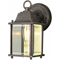 "Trans Globe Lighting 40455 RT Outdoor Patrician 8"" Wall Lantern, Rust"